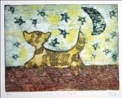 Gato en el Tejado by Diana Rosa Acosta