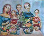 Familia Diptico 1 & 2 by Sandra Dooley