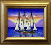 Sailboats by Raoul Gilles