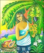 Vairaumati Caribena (homage to Paul Gauguin) by Jorge Tejeda