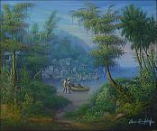 Fisherman Village by Bonnaventure Jean Louis