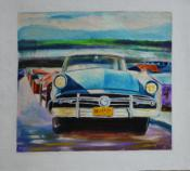 Old Car in Blue by Yoandris Perez Batista
