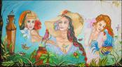 Tres Lindas Cubanas (Three Beautifull Cubans) by Isidoro Tejeda
