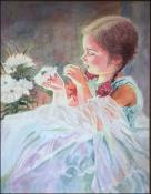 The Flower Girl (Nina de las Flores) by  Unknown Cuban Artist