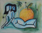 Lady with Fruit by Ivan Gomez
