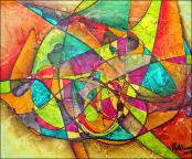 Multicolored Abstract by Rafael Alfonso