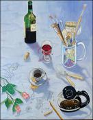 Con Vino y con Cafe by Isidoro Tejeda