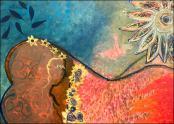 Desnuda y con Flores by Marlene Baquero